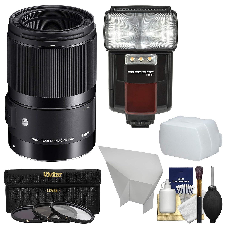 シグマ70 mm f / 2.8アートDGマクロレンズとフラッシュ+ディフューザー+フィルタ+キットfor Canon EOS DSLRカメラ   B07D6T6X2G