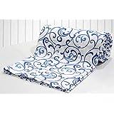 Aurave Prism Blue Floral Cotton Duvet Cover/Quilt Cover - Single Size (60 X 90 inches), 1 Piece