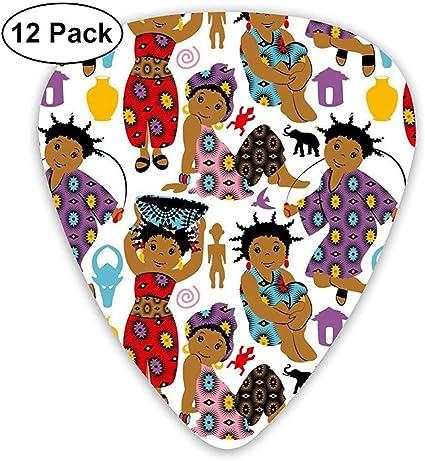 Wax African Girls 12 Pack Púas de guitarra, guitarras eléctricas y acústicas: Amazon.es: Instrumentos musicales