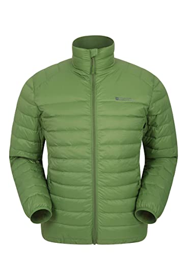 cd11c6ca52445 Mountain Warehouse Featherweight Mens Down Jacket - Lightweight Winter Coat,  Easy Care, Packaway Bag