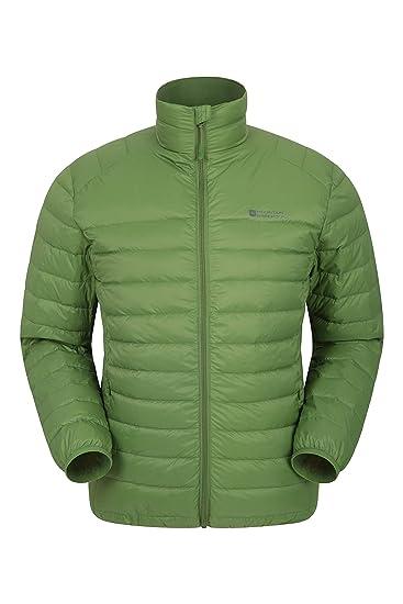 7fa36afaa32 Mountain Warehouse Featherweight Mens Down Jacket - Lightweight Winter Coat,  Easy Care, Packaway Bag