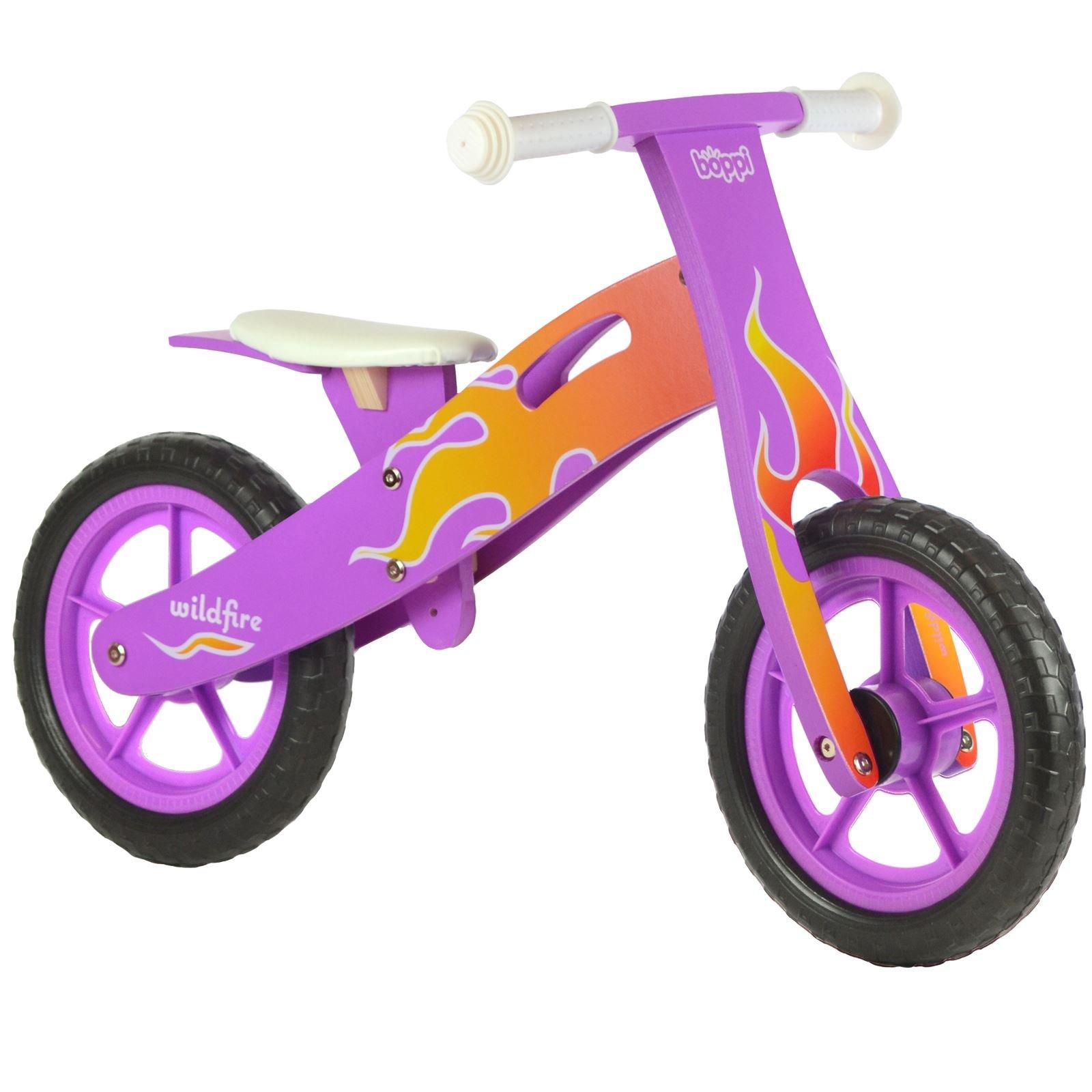boppi Kids Wooden Balance Bike - 2, 3, 4 and 5 years - Purple Flame