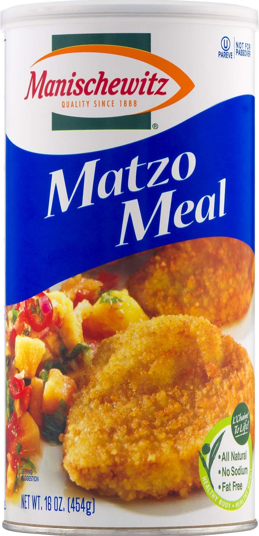 Manischewitz Matzo Meal Daily Canister, 16 OZ, Pack of 2 by Manischewitz