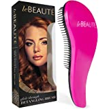 Le Beaute Detangling Hair Brush - Professional Salon Quality Wet and Dry Brush for Tangles w/ No Pain - Perfect For Thick, Wavy, Curly, or Thin Hair on Women, Girls and Kids