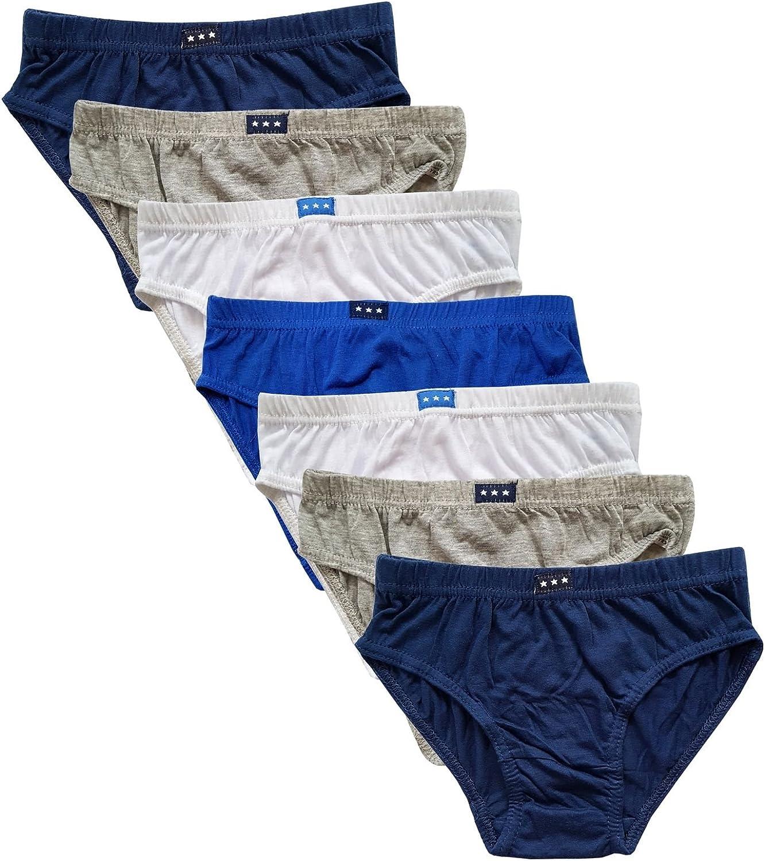 JMC Trading Company Boys Cotton Briefs 7 Multipack