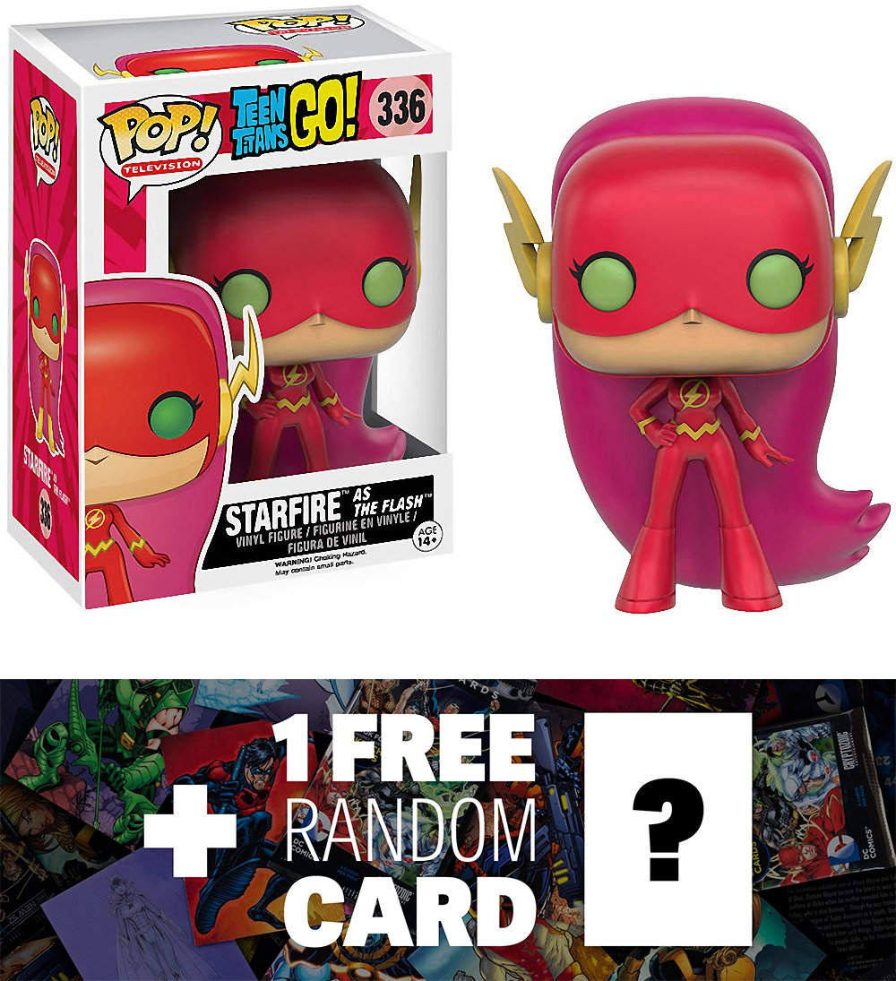 Starfire as The Flash 100816 BCC9477808 1 FREE Official DC Trading Card Bundle x Teen Titan Go Toys R Us Exclusive Vinyl Figure : Funko POP