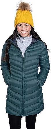 30C Heat Rating Walking for Outdoors Mountain Warehouse Florence Womens Winter Long Padded Jacket Water Resistant Rain Coat Lightweight Ladies Jacket Warm