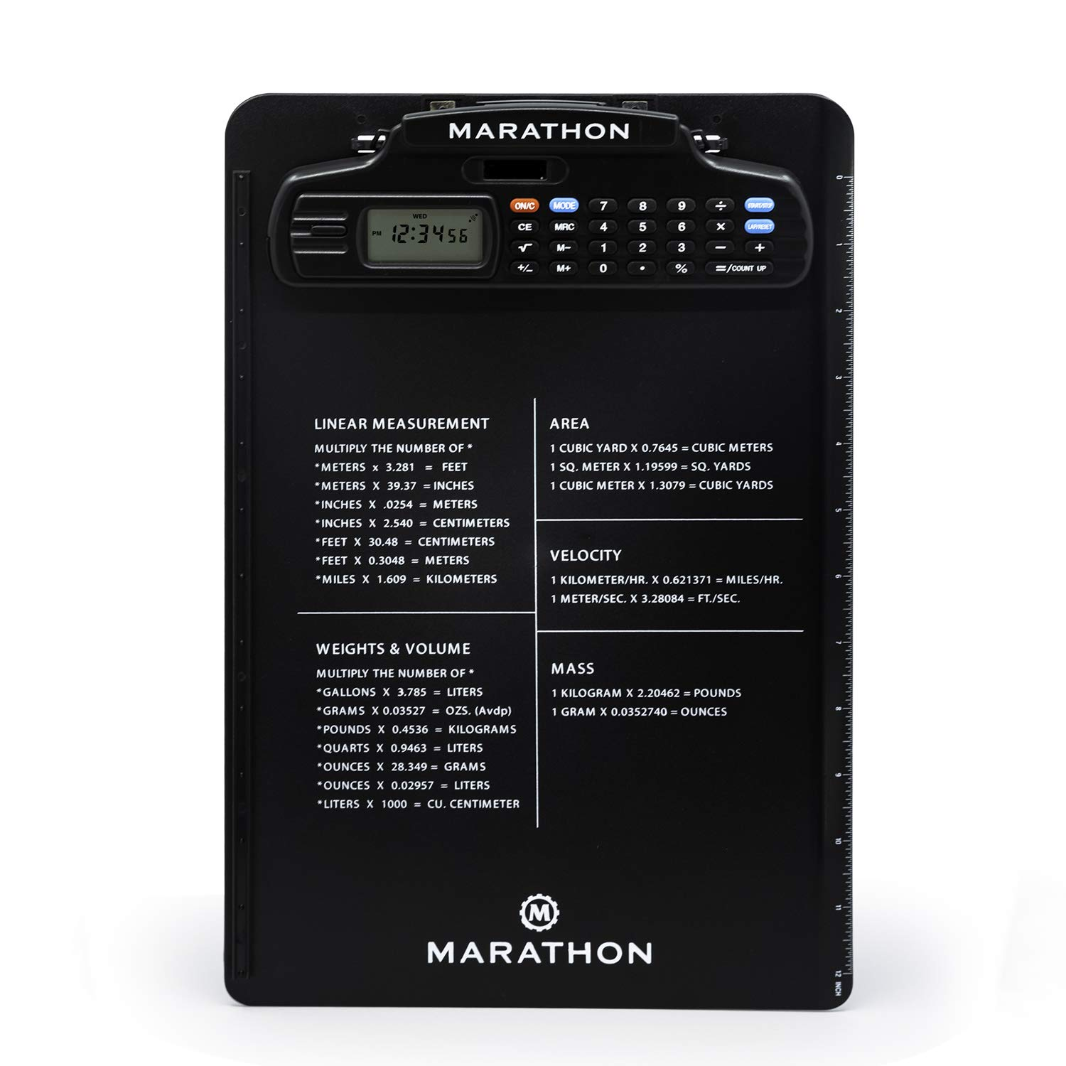 Marathon ST083016BK Clipboard Stopwatch with Calculator, Clock &  Timer-Latest Edition With Tighter Grip
