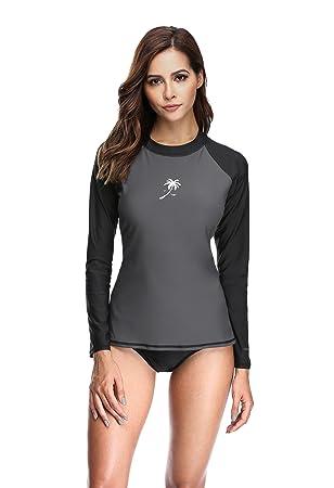 Marke UV-Schutz Eono Essentials Damen UV-Schwimmshirt lang/ärmlig