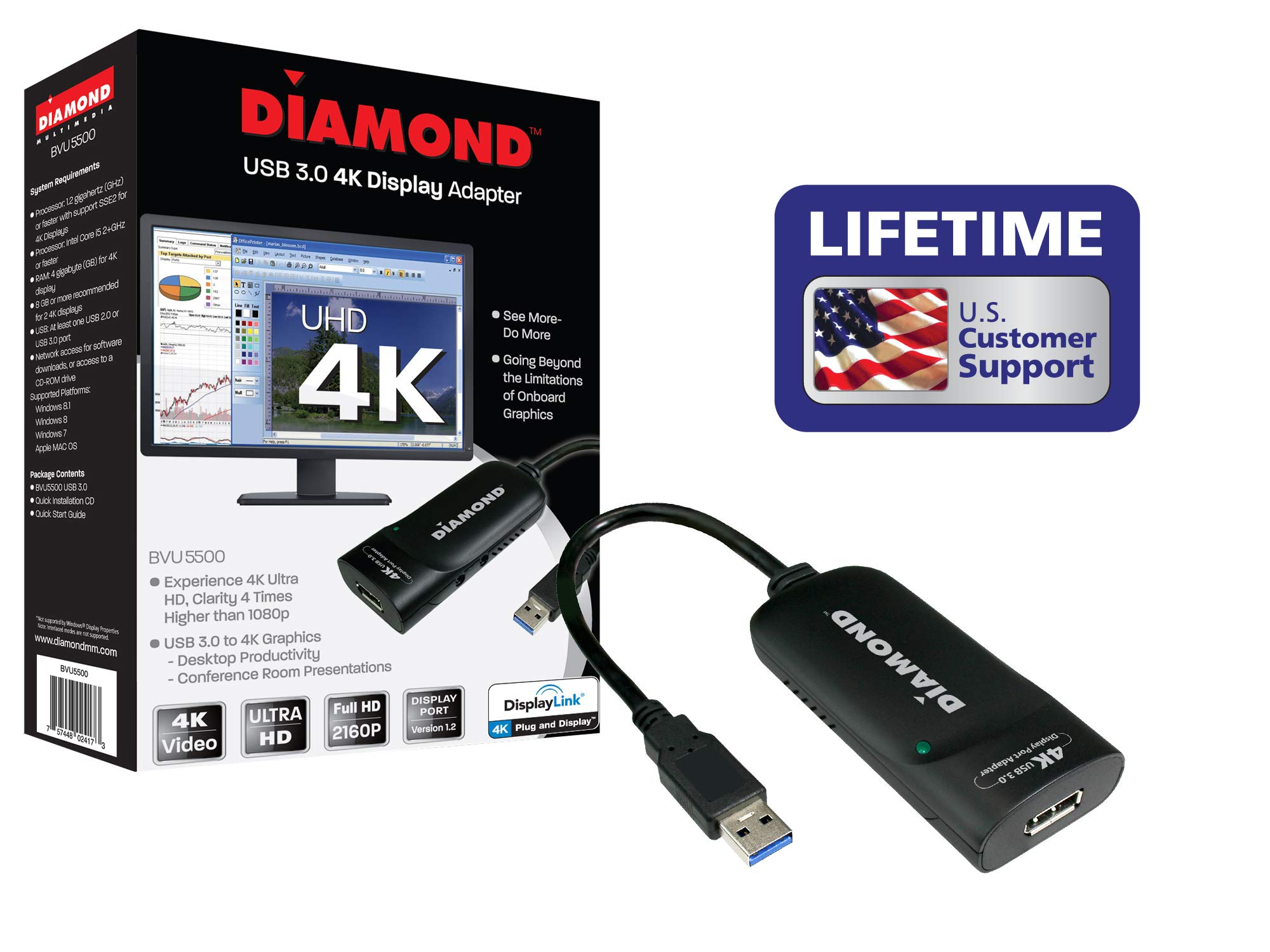 Diamond Multimedia USB 3.0 a DisplayPort 4K UHD (Ultra-High-