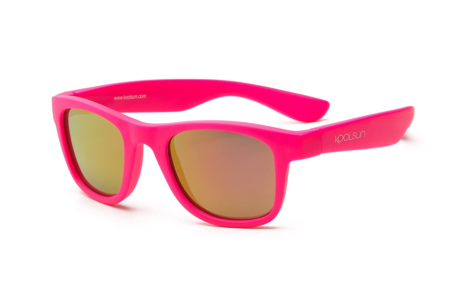 Koolsun Children's Optical Sunglasses Wave Fashion 3 + Neon Pink Mirrored 100% UV Protection, 1, Category 3 WANP003