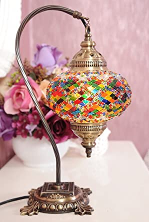 Mosaic table lamp lamp shade turkish lamp moroccan lamp swan mosaic table lamplamp shadeturkish lampmoroccan lampswan neck mozeypictures Image collections