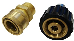Ultimate Washer 1870A High Pressure Hose Quick Connect Kit, Replaces Briggs & Stratton 6191 and Apache 44048748 Metric Quick Disconnect Pressure Washer Adapter, Replaces AP31040B and AP31041B 4000 PSI