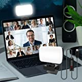 sylvwin Video Conference Lighting,Webcam Light with 3 Light Modes and Stepless Dimming,Zoom Call Lighting for Video Recording
