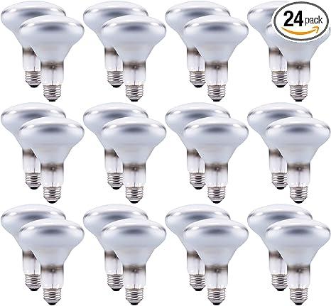 Sylvania Br30 65w Dimmable Indoor Flood Light Bulbs Soft White 24 Pack 15172 Incandescent Bulbs Amazon Com