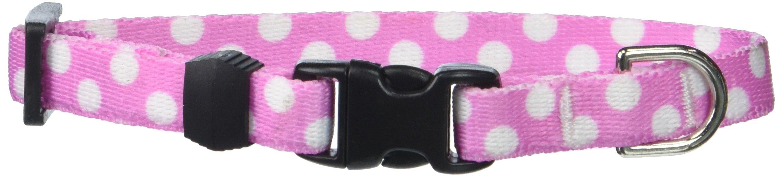 Yellow Dog Design Standard Easy-Snap Collar, Watermelon Polka Dot, Teacup 4'' - 9'' by Yellow Dog Design