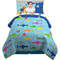 Franco - 6A2528 Kids Bedding Super Soft Comforter and Sheet Set with Sham, 5 Piece Twin Size, Baby Shark