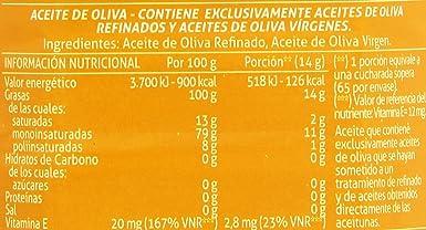 Carbonell - Aceite de oliva refinado sabor,1L pet: Amazon.es: Alimentación y bebidas