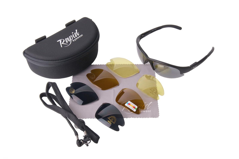 Rapid Eyewear 'Nimbus' Sportbrille mit Polarisiert Wechselgläser. UV schutz 400 ae5DX1V
