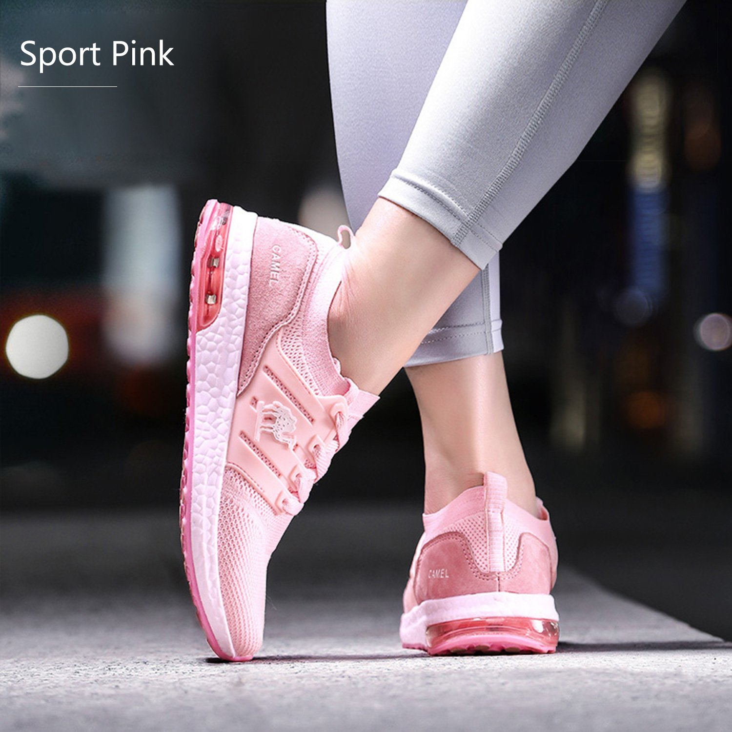 Camel Women's Trail Running Shoes, Lightweight Shockproof Fashion Gym Sports Athletic Sneakers for Gym Fashion B07BS82RTX 6 US|Pink 9c4f0f