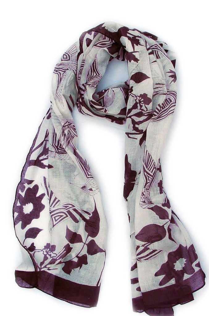 Lilac Printed Scarf - OS / PURPLE I Saw It First 8VmLH4fe