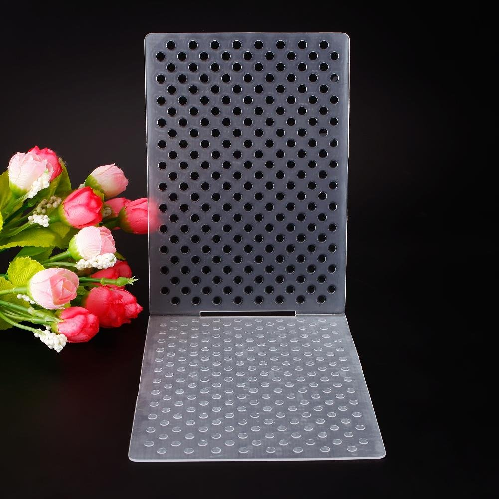 ZHUOTOP Simple Design Small Dots Pattern Plastic Embossing Folders DIY Card Making Decoration Supplies