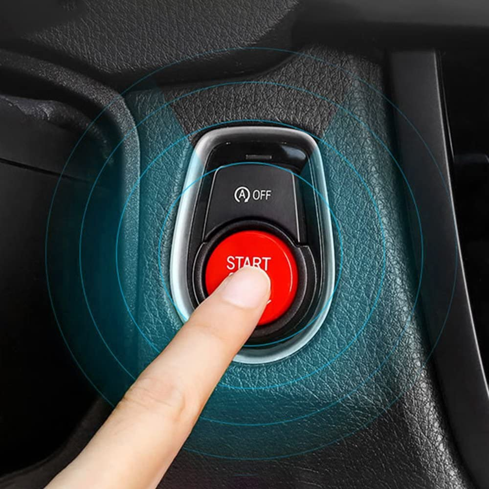 KKmoon Coperchio del Pulsante del Motore dellautomobile per E Chassis con Argilla appiccicosa Nero
