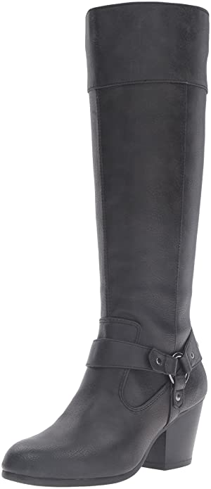 A2 by Aerosoles Women's Creativity Riding Boot, Black, ...