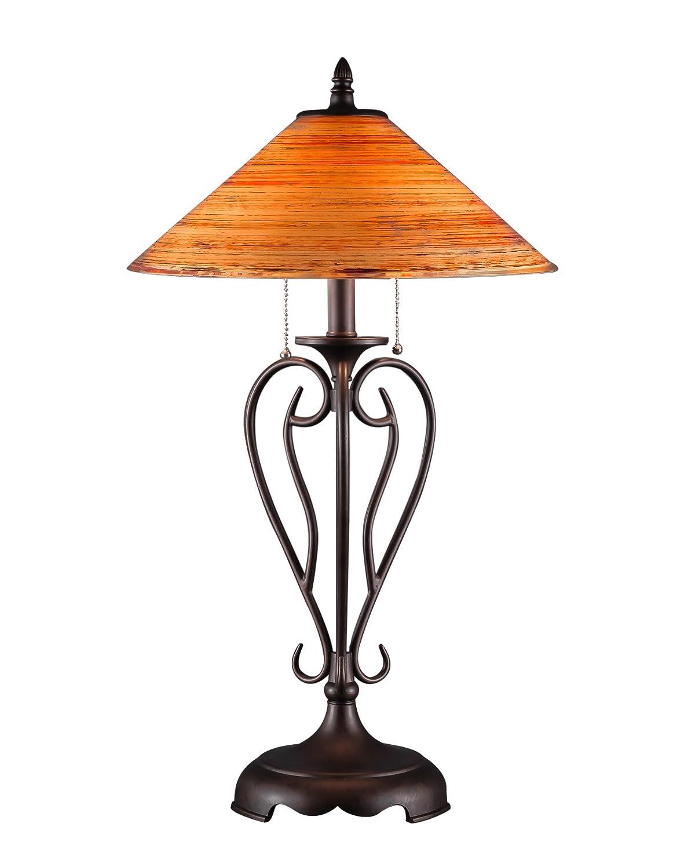 Amazon.com: Toltec iluminación Olde Hierro lámpara de mesa ...