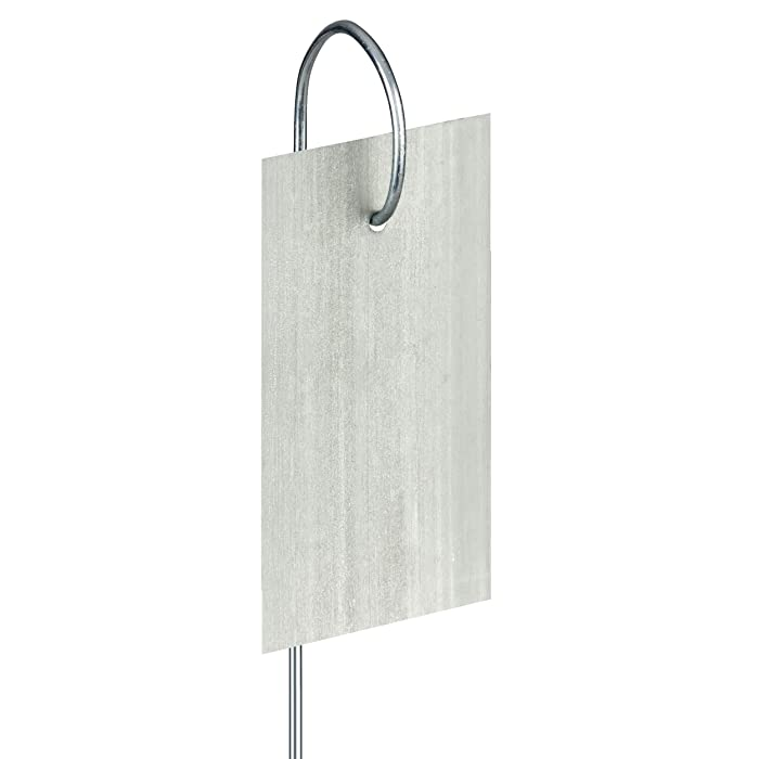 "GardenMate 25-Pack Weatherproof Hook Metal Plant Labels Hanging on a Metal Rod, Height 10"", Label Area 3'' x 1 3/8''"