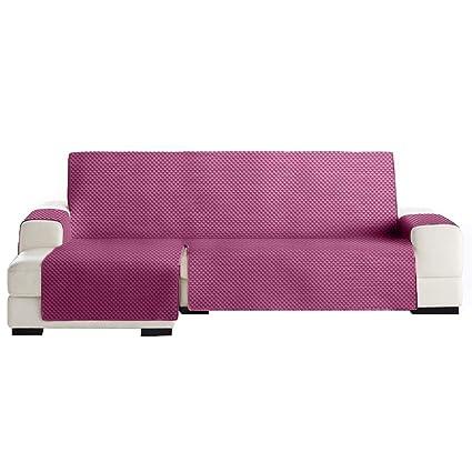 Jarrous Funda Cubre Chaise Longue Práctica Modelo Guadalaviar, Color Fucsia, Medida Brazo Izquierdo – 290cm (Mirándolo de Frente)