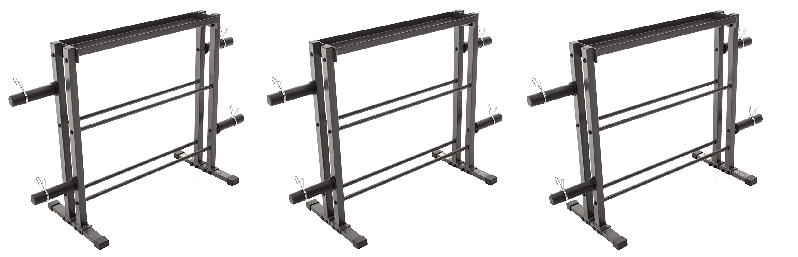 Marcy Combo Weights Storage Rack for Dumbbells, Kettlebells, and Weight Plates DBR-0117 (Pack of 3)