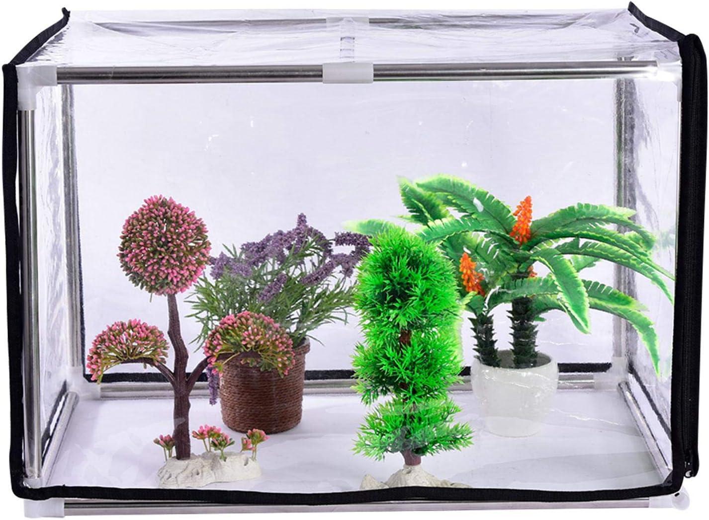 Schneeschatten robustes PVC-Anbauhaus mit Rei/ßverschluss und Metallregalen Blumenschutz tragbares Isolierschutz f/ür Blumen Frost Multifunktionales Gew/ächshaus Regenschutz f/ür kleine Pflanzen