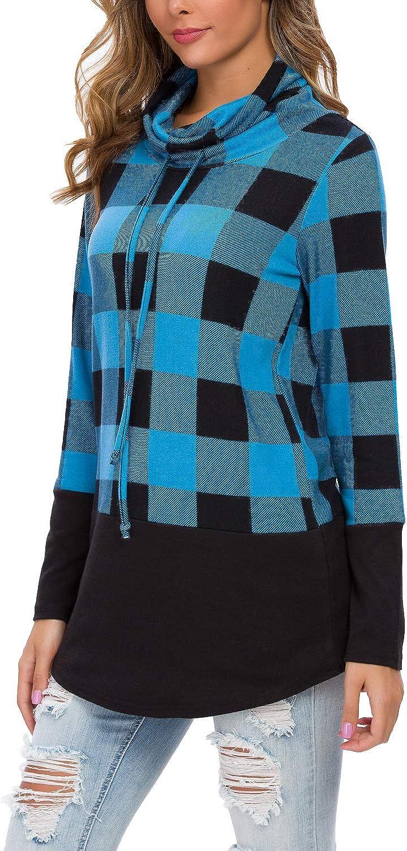 LAINAB Womens Casual Loose Long Sleeve Pullover Tunic Sweatshirt Blouse Tops
