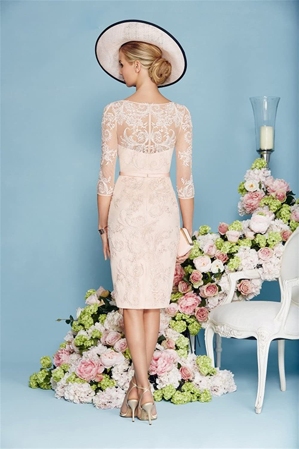 Fenghuavip Stylish 2 Pieces Light Pink Satin Lace Bridal Mother ...