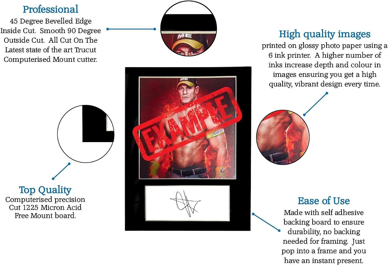 Cadeau cadeau /à collectionner Taille A5 adapt/ée aux cadres de 6 x 8 pouces Coupe /à la machine Affichage photo Signature d/'impression photo mont/ée BIG SHOW WWE