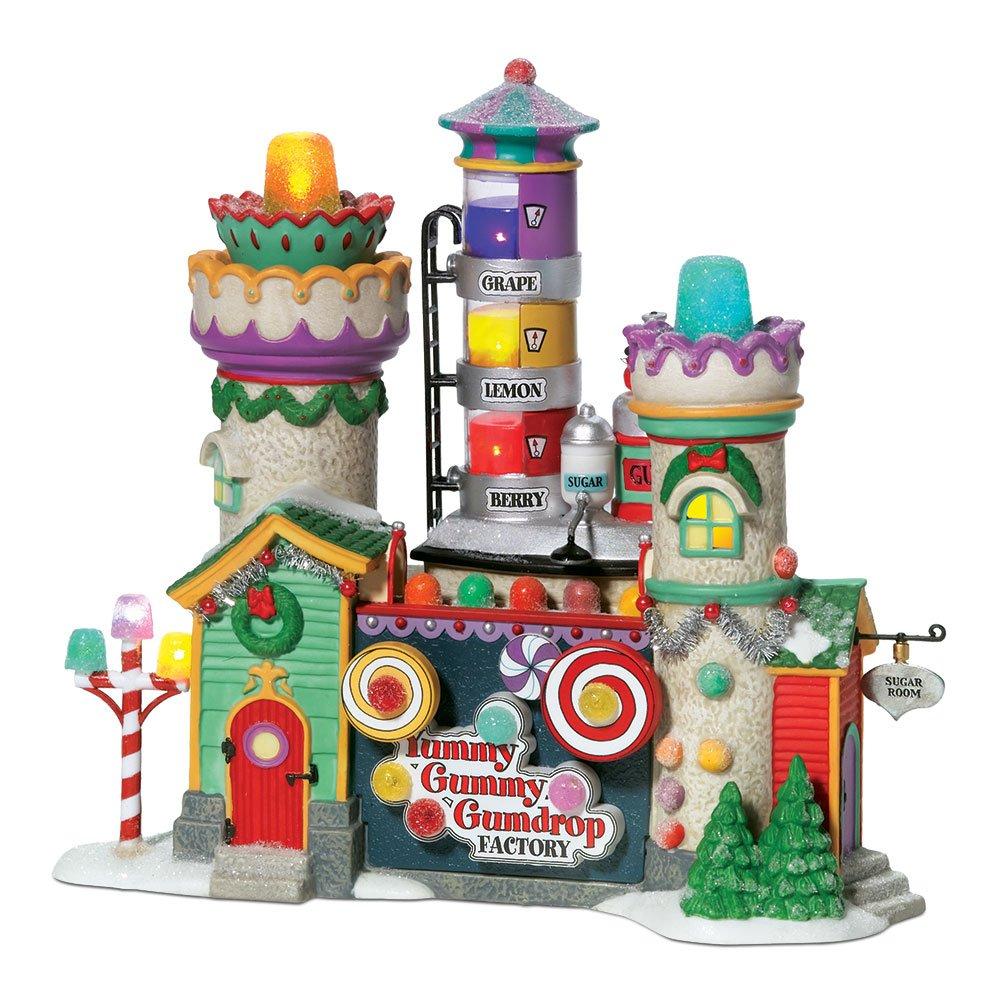 Department 56 North Pole Village Yummy Gummy Gumdrop Factory Lit Building 56.56771
