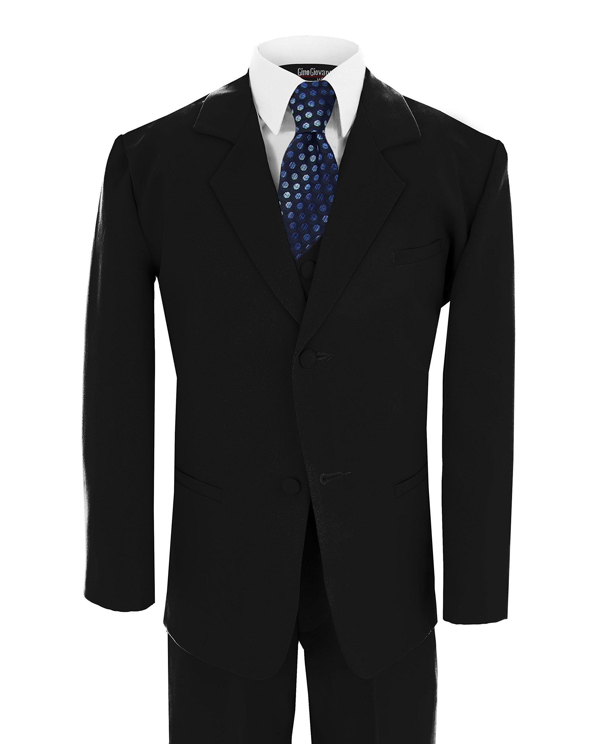 Little Boy's Formal Dresswear Set G186 (5, Black/Blue)