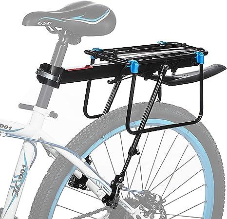 Portapacchi in Alluminio per Bici Universale Regolabile Porta Posteriore per Bicicletta Portapacchi Bicicletta Accessori Apparecchiature in Bicicletta Supporto footstock Carrier Rack con riflettore