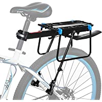 Baiker Mountainbike bagagedrager, instelbare mountainbike bagagedrager blauwe welving snelspanner zadelpen fietsendrager…