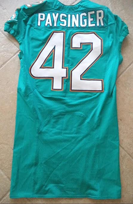 official photos c7bac 2db5a Spencer Paysinger Miami Dolphins #42 2016 On Field Jersey ...
