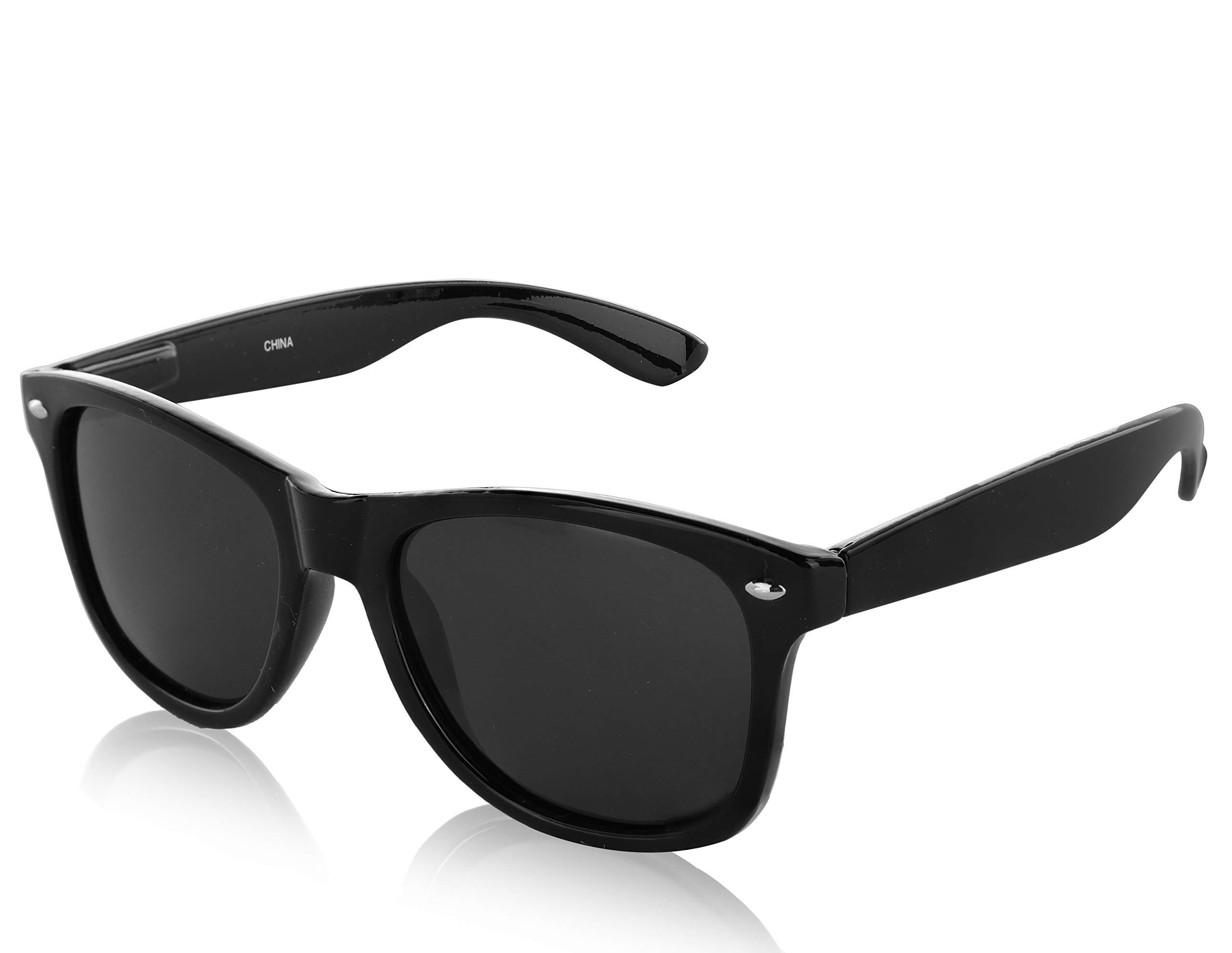 Sunny Pro Wayfarer Polarized Sunglasses Vintage Retro Designer Sun Glasses UV400 (G black)
