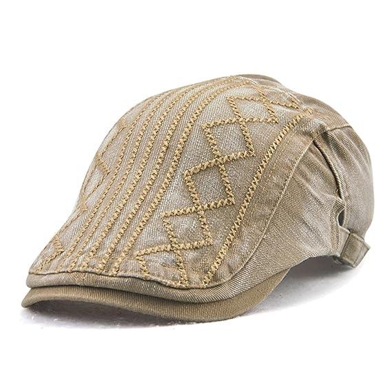 Cotone Tessuto in Lino Cappello Piatto Baschi Scozzesi Coppola Cappello Piatto Berretto da Uomo Aikesi