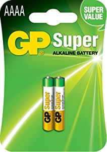 25AC2 GP AAAA Alkaline Battery 2Pk Gp GP25AC2,