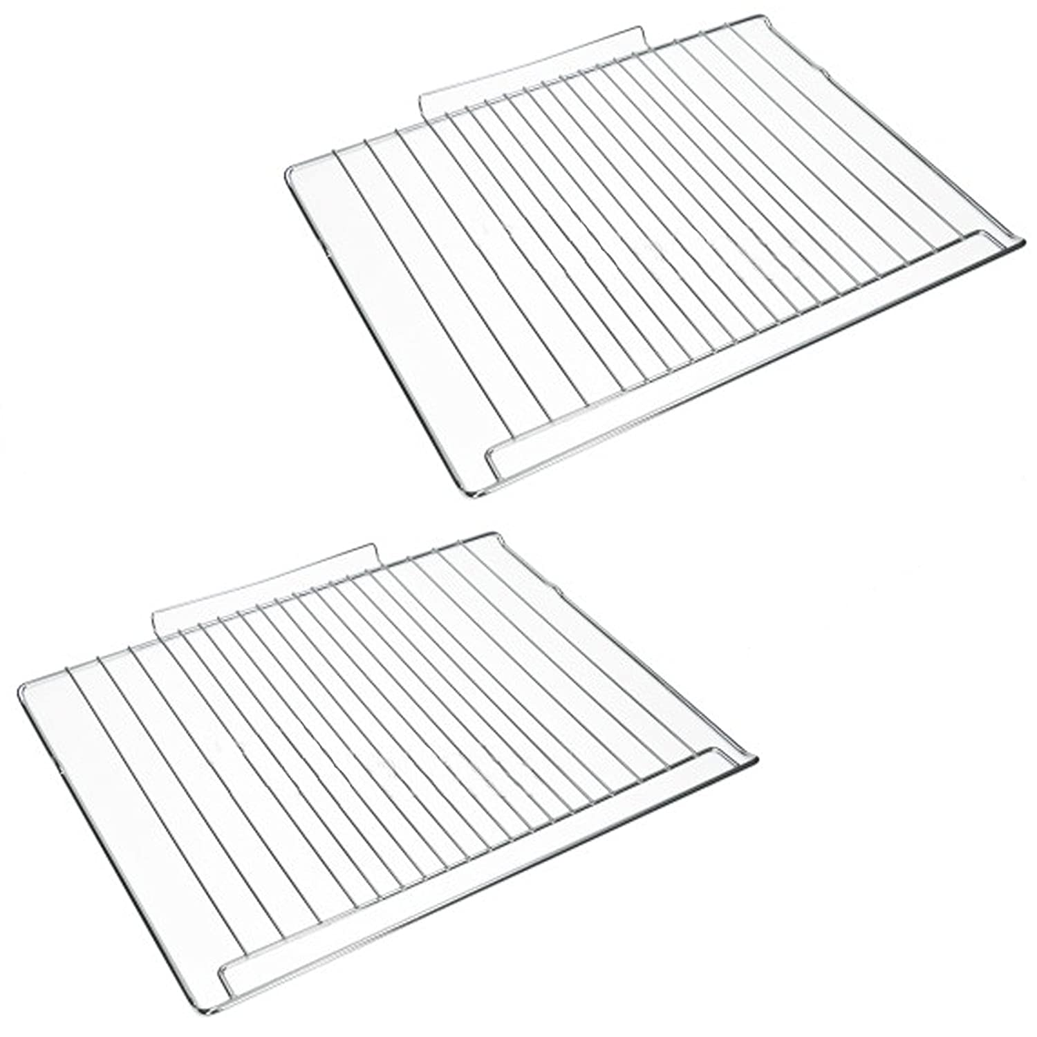 SPARES2GO Shelf Rack for Hotpoint Oven Cooker Grill (477mm x 363mm) Pack of 2