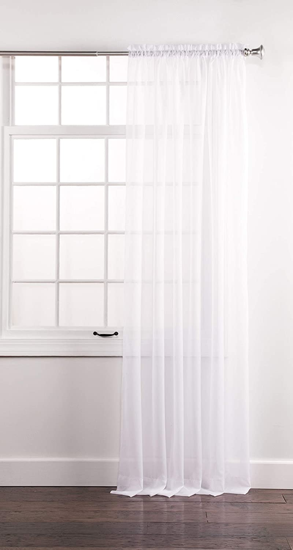"Stylemaster Elegance Sheer Voile, 60"" X 108"" | Panel, White"