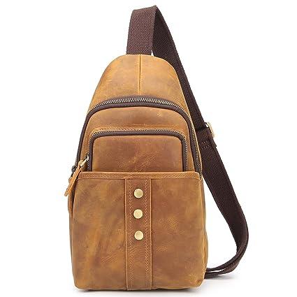 Sling bag Pacco Petto Vera Pelle Sling bag Borsello tracolla
