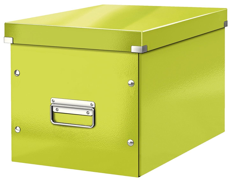 Leitz Caja de almacenaje cúbica, Tamaño grande, Verde, Click & Store, 61080064: Amazon.es: Oficina y papelería
