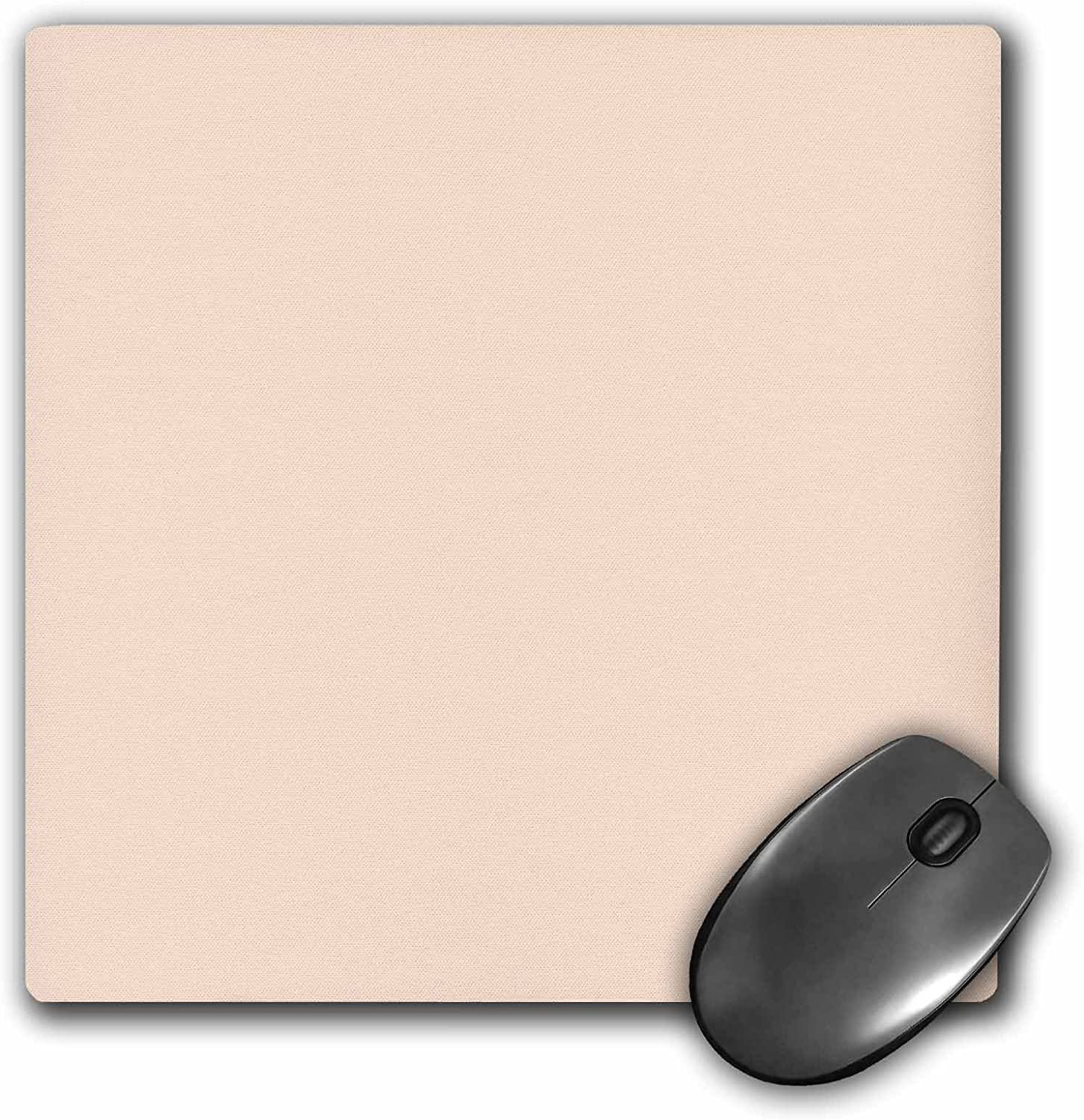 3dRose Light peach - nude flesh color - pastel orange - Mouse Pad, 8 by 8 inches (mp_159866_1)