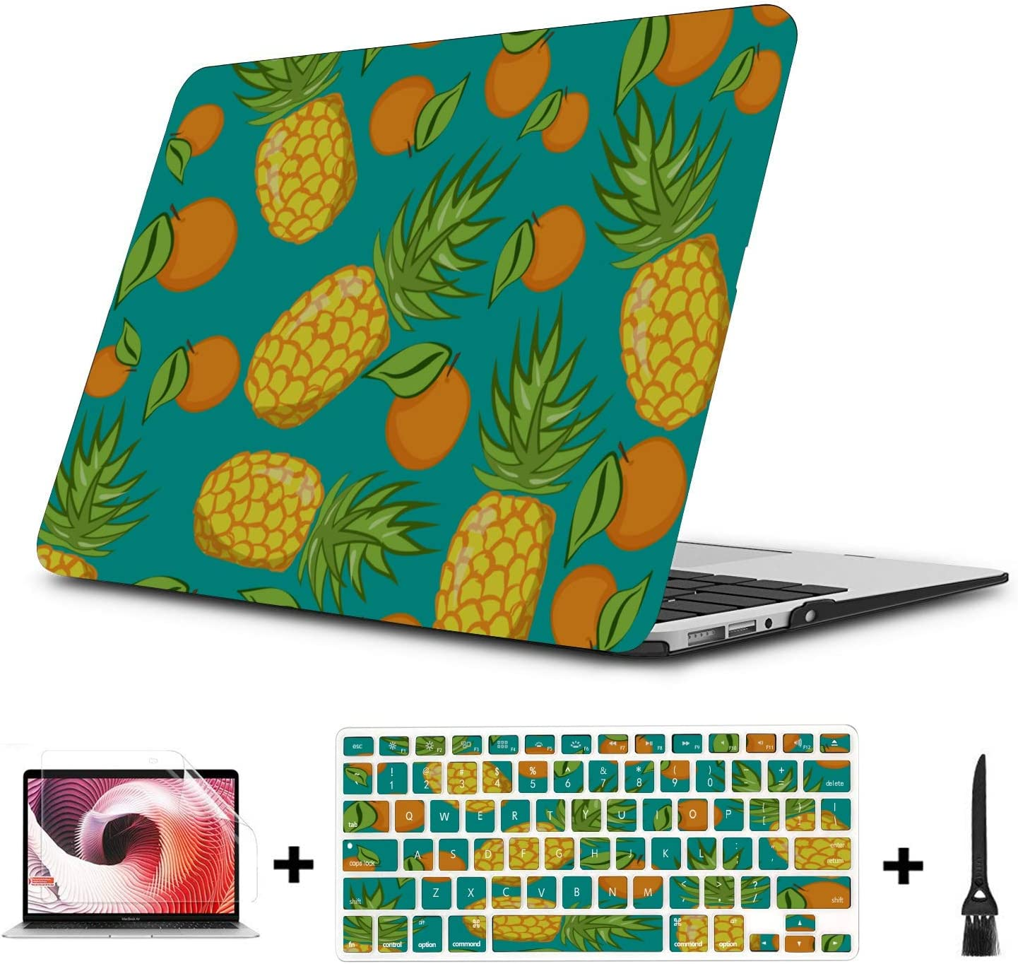 15inch MacBook Pro Case Summer Fashion Fruit Pineapple Plastic Hard Shell Compatible Mac Air 11 Pro 13 15 MacBook Air Case Protection for MacBook 2016-2019 Version